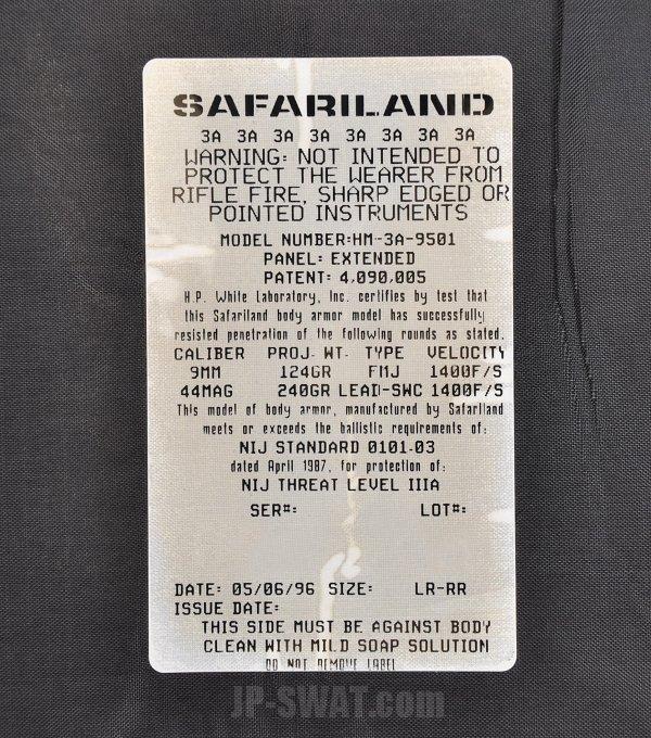 SAFARILAND(サファリランド) タクティカル・ボディー・アーマー・ベスト