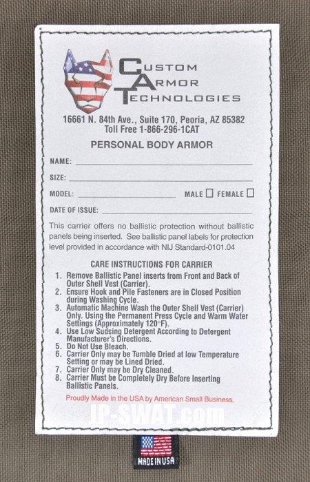 CAT(Custom Armor Technologies) CITADEL タクティカル・ボディー・アーマー・ベスト