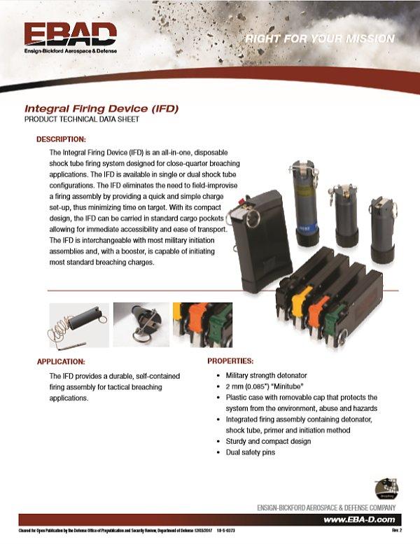 EBAD Integral Firing Device (IFD)