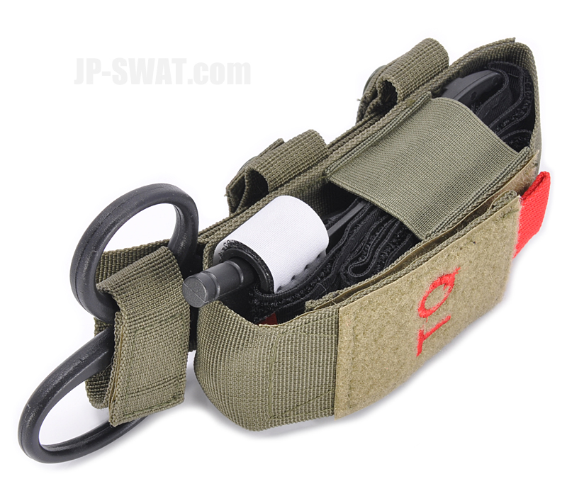 NcSTAR VISM ターニケット(止血帯) & トラウマ・シアー(外傷処置用ハサミ)ポーチ グリーン
